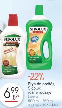 Płyn do podłóg Sidolux różne rodzaje Lakma