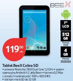 Tablet BeeX Cobra SD