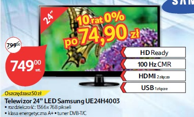 Telewizor 24'' LED Samsung UE24H4003