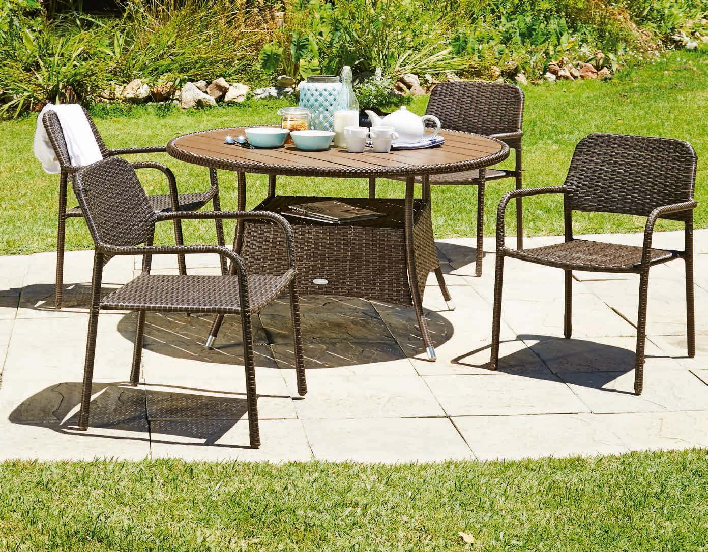 Stół Strib + 4 krzesła Fauske