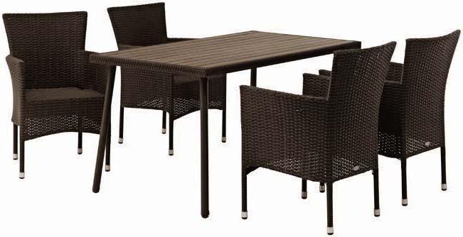 Stół Sandvik+ 4 krzesła Bork