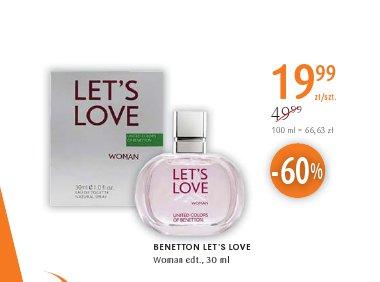 BENETTON LET'S LOVE Woman edt.,