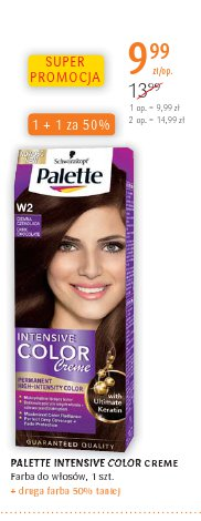 PALETTE INTENSIVE COLOR CREME Farba do włosów, 1 szt. + druga farba 50% taniej