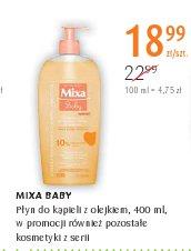 MIXA BABY Płyn do kąpieli z olejkiem, 400 ml, w promocji również pozostałe kosmetyki z serii