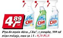 Płyn do mycia okien Clin z pompką