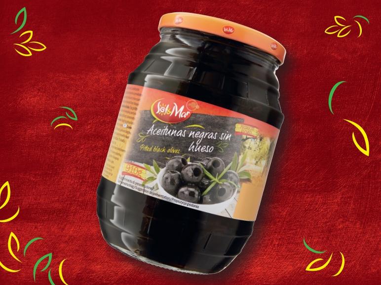 Oliwki z warzywami lub czarne oliwki, 910/950 g