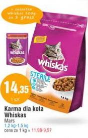 Karma dla kota Whiskas Mars