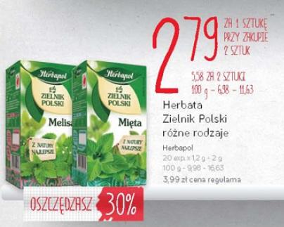 Herbata Zielnik Polski różne rodzaje Herbapol