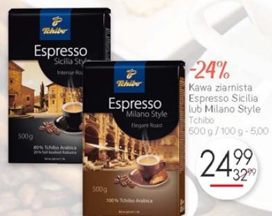 Kawa ziarnista Espresso Sicilia lub Milano Style Tchibo