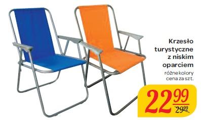 Krzesło turystyczne z niskim oparciem