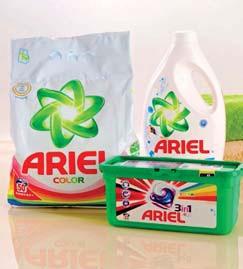 Kapsułki do prania Ariel 32 szt., Żel do prania Ariel 2,8 l