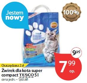 Żwirek dla kota super compact Tesco 5 l