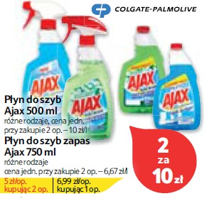 Płyn do szyb Ajax 500 ml, Płyn do szyb zapas Ajax 750 ml