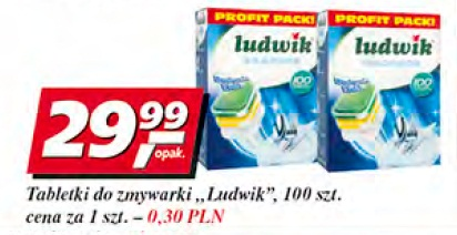 Tabletki do zmywarki Ludwik