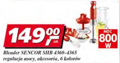 Blender Sencor SHB 4360-4365