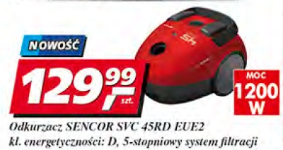 Odkurzacz Sencor SVC 45 RD EUE2