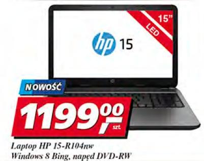 Laptop HP 15-R104 nw Windows 8 Bing