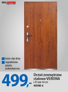 Drzwi zewnętrzne stalowe VERONA