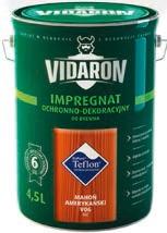 Impregnat ochronno- -dekoracyjny VIDARON 4,5 l