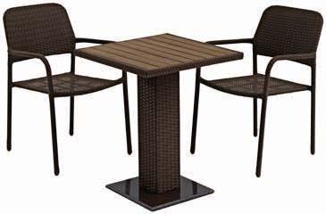 Stół Thy+ 2 krzesła Fauske