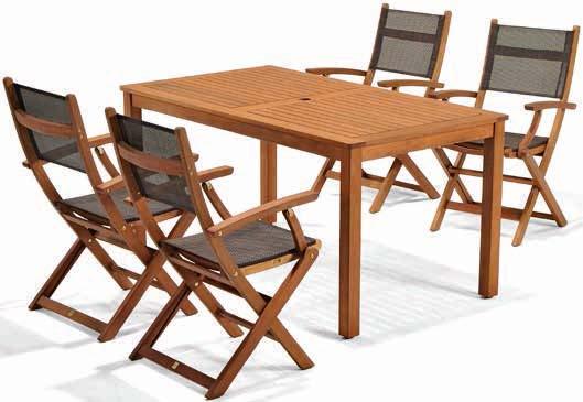 Stół Hamar + 4 krzesła Mora