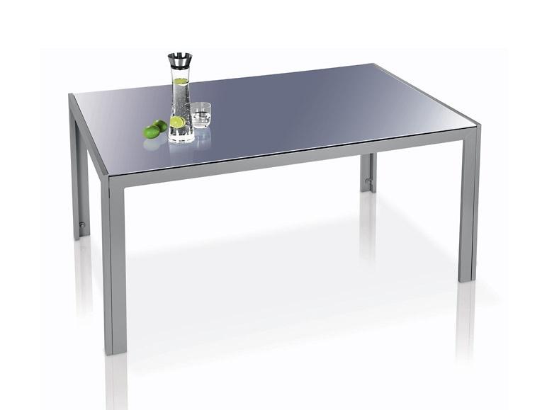 Aluminiowy stół szklany