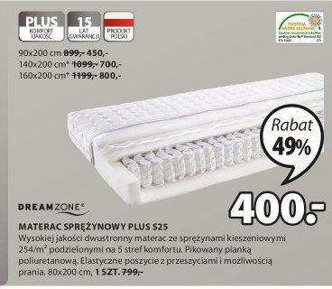 Materac sprężynowy Plus S25