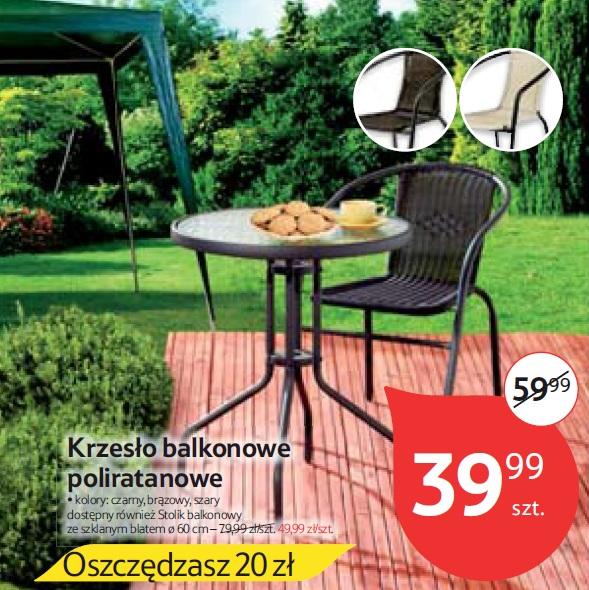 Krzesło balkonowe poliratanowe