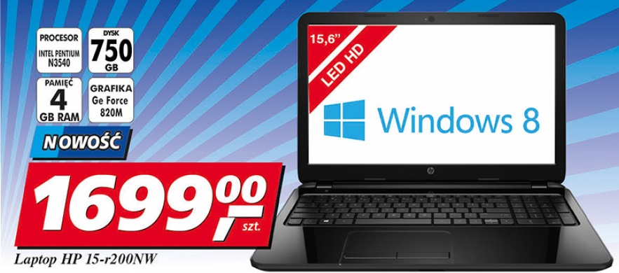 Laptop HP 15-r200NW