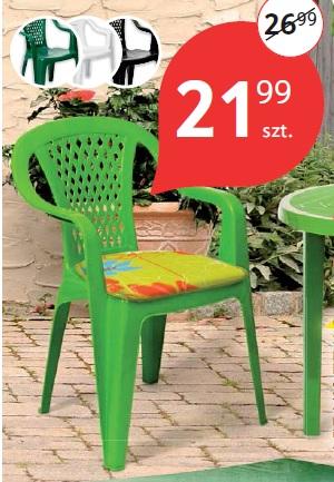 Krzesło plastikowe limonka