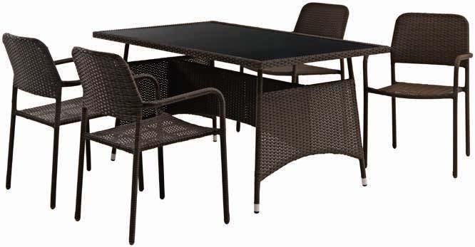 Stół Odda + 4 krzesła Fauske