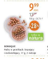 SENSIQUE Pudry w perełkach: brązujący i rozświetlający, 17 g, 2 rodzaje