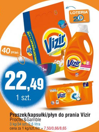 Proszek/kapsułki/płyn do prania Vizir Procter&Gamble