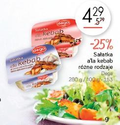 Sałatka a'la kebab różne rodzaje Dega