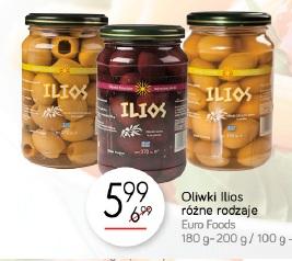 Oliwki Ilios różne rodzaje Euro Foods