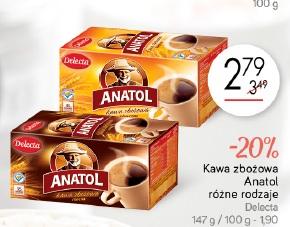 Kawa zbożowa Anatol różne rodzaje Delecta