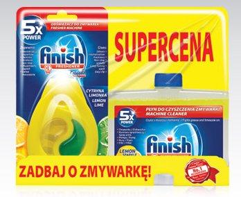 Zestaw Finish: Środek do czyszczenia zmywarek, 250 ml + Odświeżacz