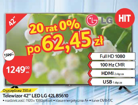 "Telewizor 42"" LED LG 42LB5610"