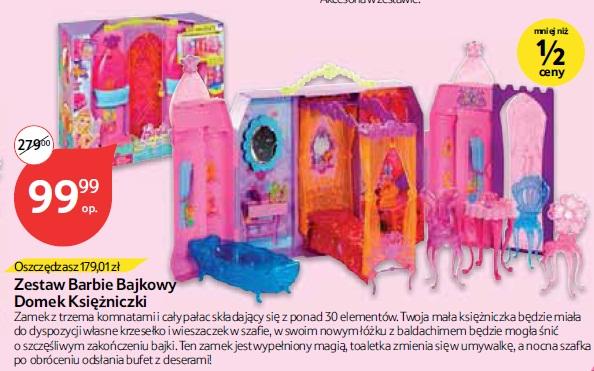 Zestaw Barbie Bajkowy Domek Księżniczki