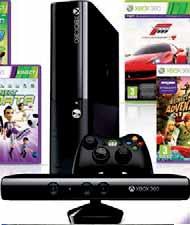 Konsola Xbox 360 4 GB + Kinect + 4 gry (Kinect Adventures, Kinect Sports, Kinect Sports 2, Forza Motorsport 4) + Xbox Live Gold abonament 3-miesięczny