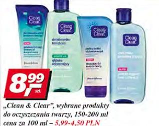 Clean & Clear, wybrane produkty do oczyszczania twarzy