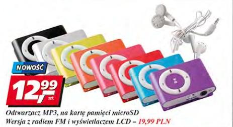 Odtwarzacz MP3 na kartę pamięci microSD