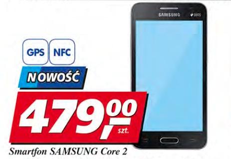 "Smartfon Samsung Core 2, ekran 4,5"", Quad Core, aparat 5 Mpix, Android"