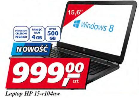 Laptop HP 15-r104nw
