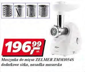 Maszynka do mięsa Zelmer ZMM1054S dodatkowe sitka, nasadka masarska