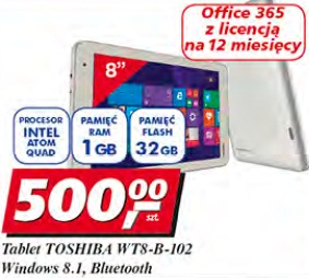 Tablet Toshiba WT8-B-102 Windows 8.1 Bluetooth