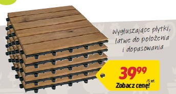 Płytki podłogowe z drewna akacjowego 5 szt.