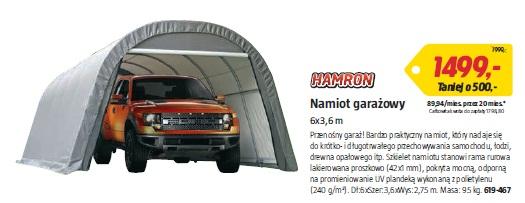 Namiot garażowy 6x3,6 m