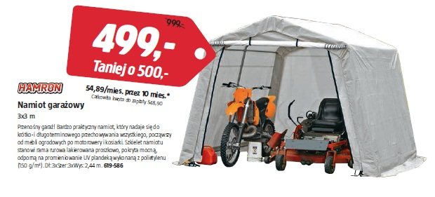 Namiot garażowy 3x3 m