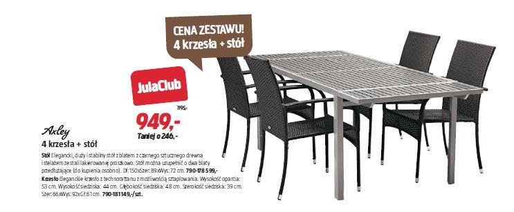 4 krzesła + stół
